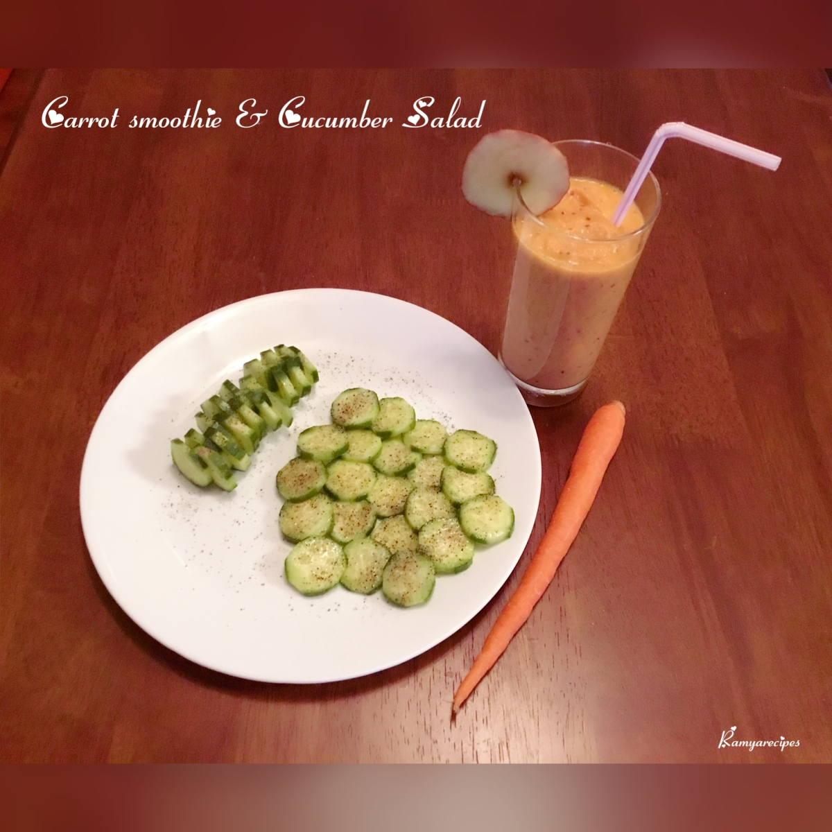 Carrot 🥕 Smoothie & Cucumber salad 🥒 || Healthy juice || Healthy diet 🙂