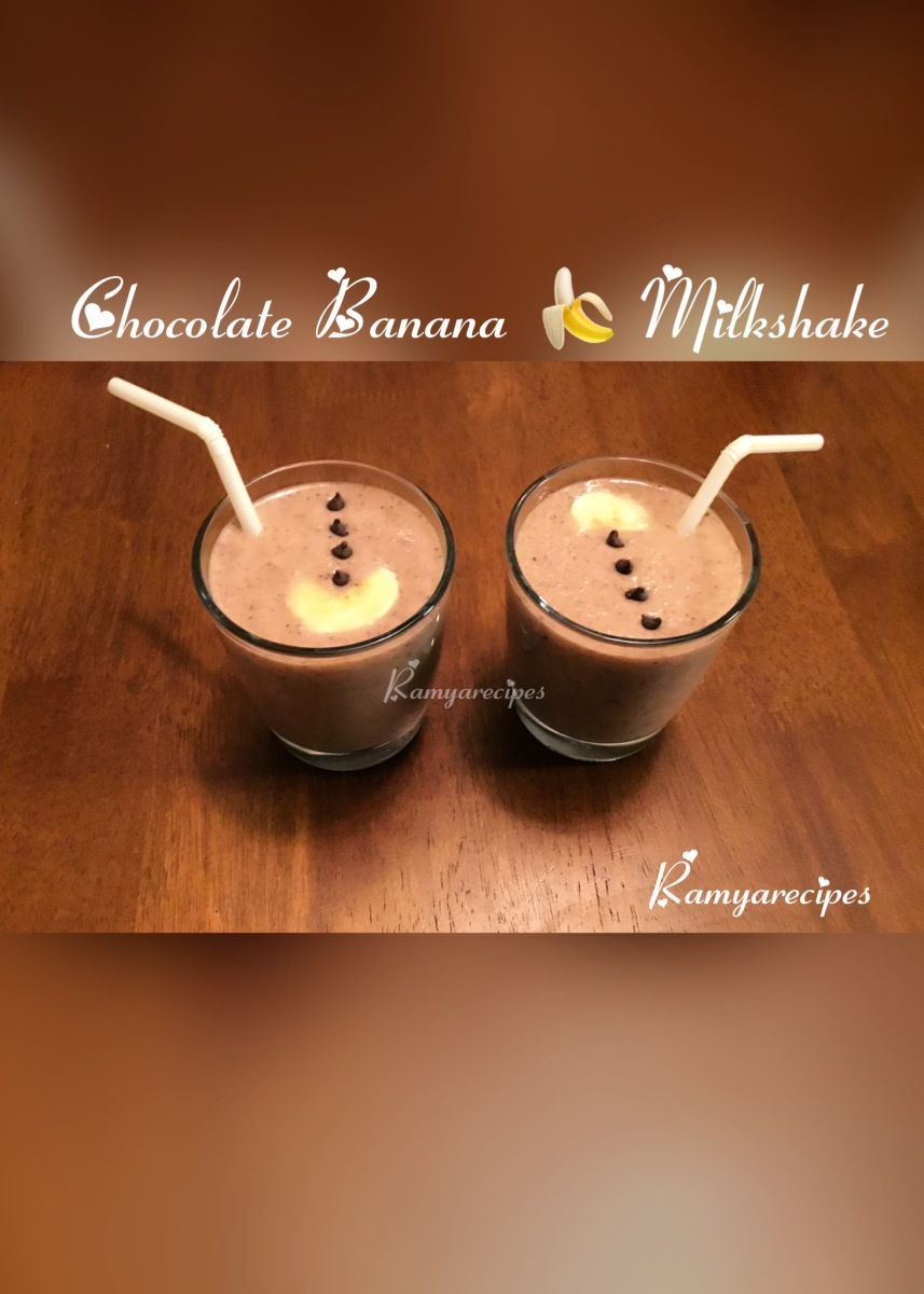 Chocolate 🍫 Banana 🍌 Milkshake 👌 | Cold Beverage | Summer 🌞Treat