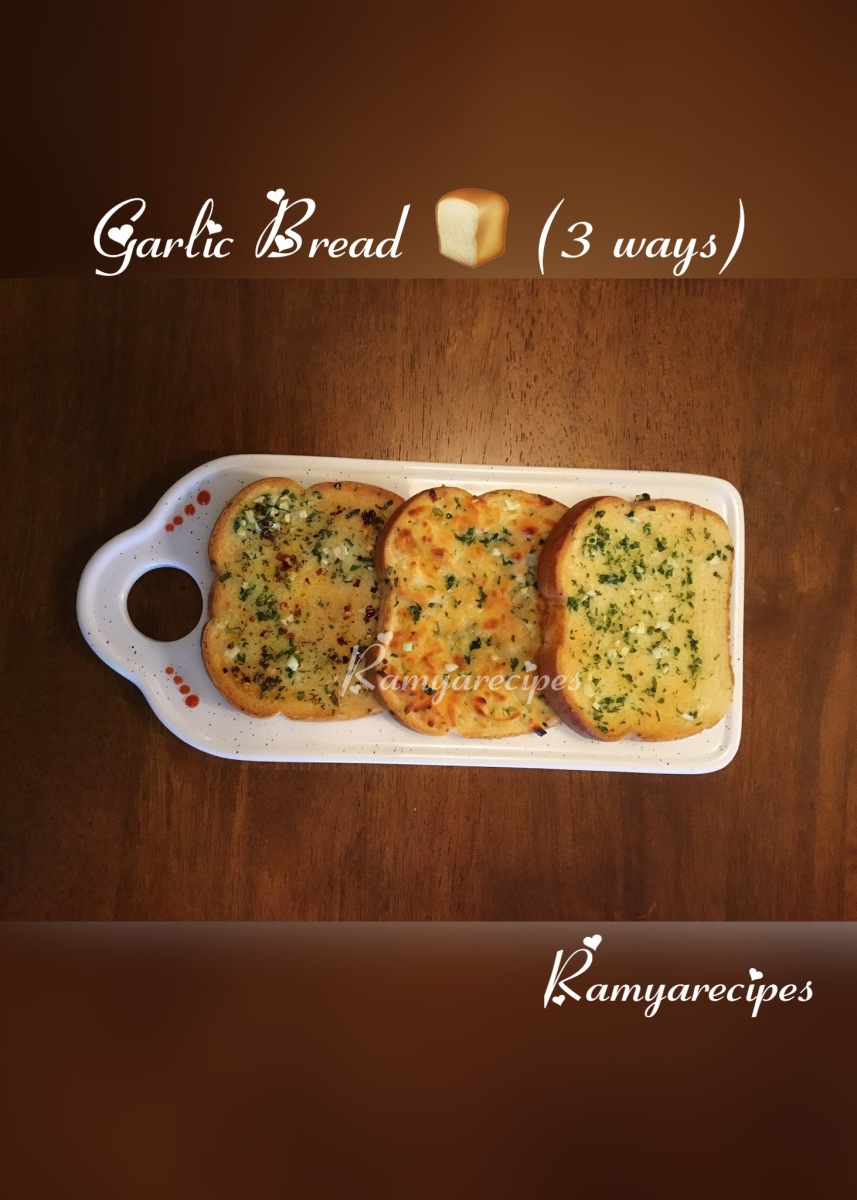 Garlic Bread 🍞 (3 ways) | Snack